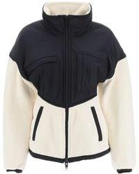 Alexander Wang Teddy Fleece And Nylon Jacket S Technical - Black