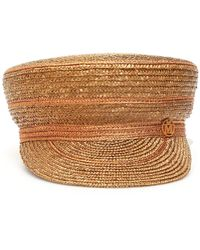 Maison Michel Abby Straw Sailor Hat - Multicolour