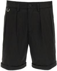 Neil Barrett Minimalist Slim Naval Shorts - Black