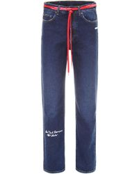 Off-White c/o Virgil Abloh - Jeans With Embroidery - Lyst