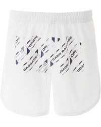 Off-White c/o Virgil Abloh Airport Tape Shorts - White