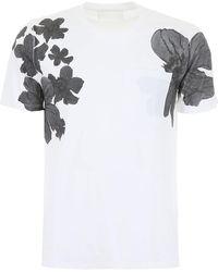 Neil Barrett Floral-printed T-shirt - White