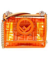Fendi Kan I F Shoulder Bag - Orange