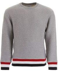 Thom Browne Crew Neck Sweatshirt - Grey