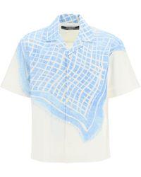 Jacquemus La Chemise Jean Bowling Shirt - Blue