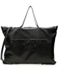 Saint Laurent Shopper Logo Bag - Nero