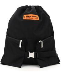 Heron Preston Gym Bag Nylon Backpack Sack - Black