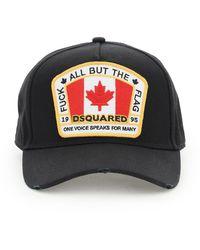 DSquared² CAPPELLO BASEBALL CANADIAN FLAG - Nero