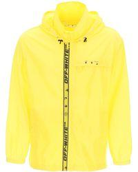 Off-White c/o Virgil Abloh Rain Jacket With Logo S - Yellow
