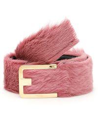 Prada - Fur Belt - Lyst
