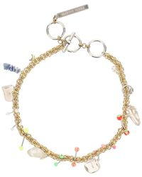Marine Serre Psychotropic Necklace With Charms - Metallic
