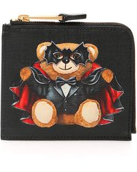 Moschino Bat Teddy Bear Wallet - Black