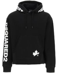 DSquared² Hooded Sweatshirt With Nylon Inserts S Cotton - Black