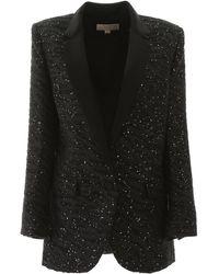 MICHAEL Michael Kors Jacquard Blazer With Sequins - Black