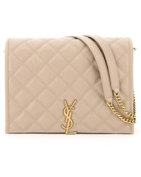 Saint Laurent Small Becky Quilted Bag - Natural
