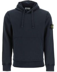 Stone Island Hooded Sweatshirt - Blue
