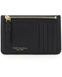 Tory Burch POUCH PERRY TOP-ZIP CARD CASE - Nero