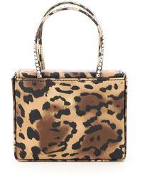 AMINA MUADDI Super Amini Leopard Micro Bag Gilda Crystal - Multicolour