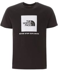 The North Face T-SHIRT STAMPA LOGO REDBOX - Nero