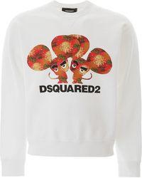 DSquared² Logo Print Cotton Sweater - White