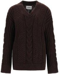 Nanushka Arwan Oversize Sweater - Brown