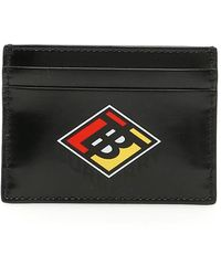 Burberry Logo Graphic Print Cardholder - Black