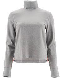 Thom Browne Jersey Turtleneck Sweatshirt - Gray