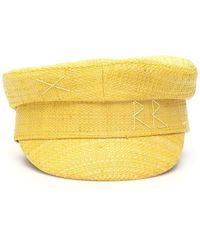 Ruslan Baginskiy Straw Baker Boy Hat - Yellow