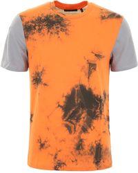 Helmut Lang T-Shirt Tie-Dye - Arancione