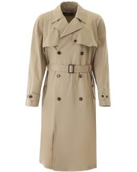 Dolce & Gabbana Cotton Trench Coat - Natural