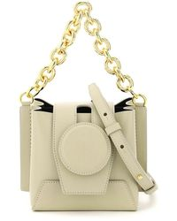 Yuzefi Daria Mini Bucket Leather Bag Os Leather - Green