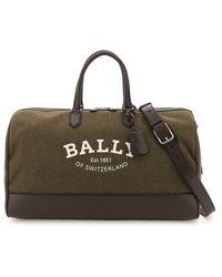 Bally Caius Weekender Bag Os Technical - Brown