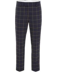 CALVIN KLEIN 205W39NYC Checked Pants - Blue