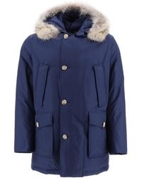 Woolrich Arctic Parka With Coyote Fur - Blue