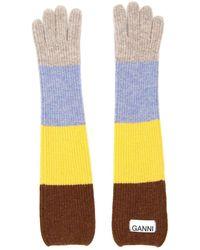 Ganni Multicolour Striped Gloves