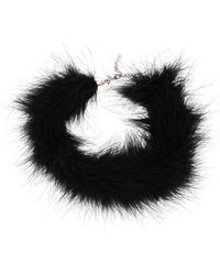 Saint Laurent Marabout Choker Necklace S - Black