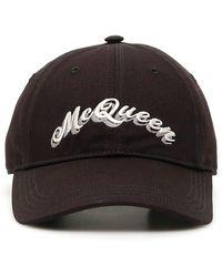 Alexander McQueen Double Logo Baseball Cap - Black
