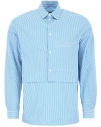 Goetze Grant Double Layered Bib Shirt - Blue