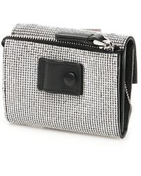 Marco De Vincenzo Crystal Wallet With Chain Os Leather - Multicolour