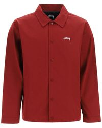 Stussy Classic Coach Jacket - Red