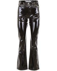 Calvin Klein Vinyl Trousers - Black