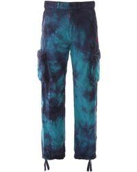Off-White c/o Virgil Abloh Tie-dye Cargo Pants - Blue