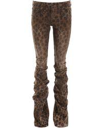 R13 Shirring Boy Boot Jeans - Brown