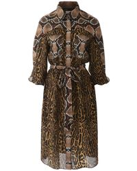 Burberry Animalier Costanza Dress - Brown