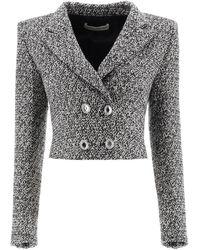 Alessandra Rich Tweed Blazer With Sequins - Multicolour