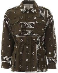 MSGM Bandana Print Safari Jacket - Black
