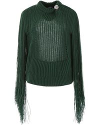 CALVIN KLEIN 205W39NYC Fringed Knit - Green