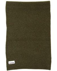Ganni Knit Scarf - Green