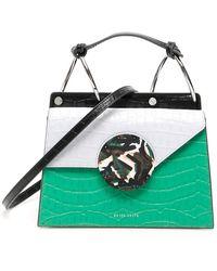 Danse Lente Phoebe Mini Embossed Leather Bag - Green