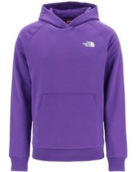 The North Face Redbox Logo Print Hoodie - Purple